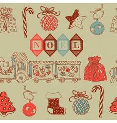 Vintage Christmas Noel Background vector image