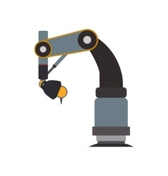 arm robot technology android metal icon vector image vector image