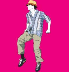boy jumping vector image