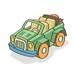 Car cartoon colored vector image