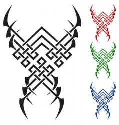 color tattoo vector image