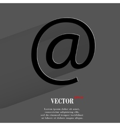 commercial at Flat modern web button with long vector image vector image