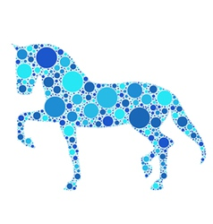 dotted horse vector image vector image