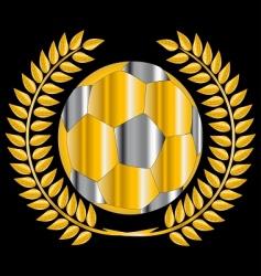 golden soccer ball vector image