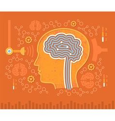 Human Brain Circuits vector image