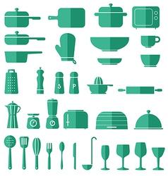 Kitchen Icon Set Graphics vector image