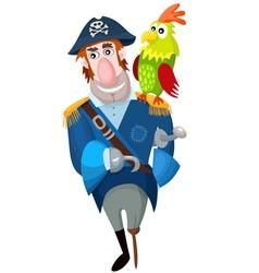 pirate cartoon vector image vector image