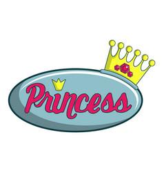 princess show icon cartoon style vector image vector image