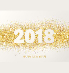 2018 glitter typography design happy new year vector