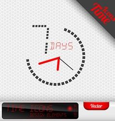 7 Days Icon Design Elements vector image