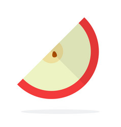 A piece a red apple with a seed flat isolated vector