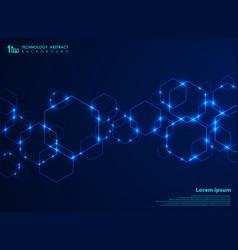 abstract futuristic hexagon shape pattern vector image