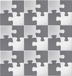 Abstract Jigsaw puzzle vector image