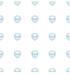 Alien head icon pattern seamless white background vector