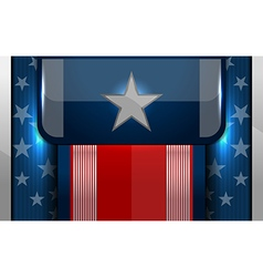 American flag backgrounds design vector