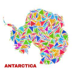 Antarctica continent map - mosaic of color vector