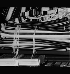 Black and white talit zizit jewish vector