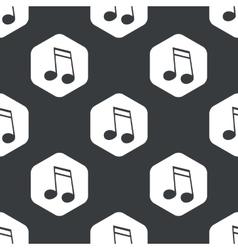 Black hexagon music pattern 2 vector