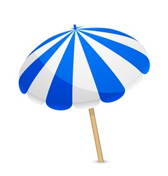 Blue and white parasol vector