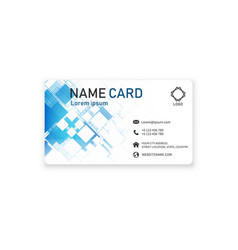 blue business creative modern name card ima vector image