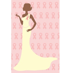 Breast cancer awareness beauty vector image