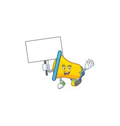 Bring board yellow loudspeaker cartoon character vector