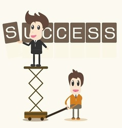 Businessman success assembly vector image