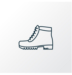 camping boots icon line symbol premium quality vector image