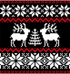 Christmas Nordic pattern vector image vector image