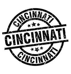 Cincinnati black round grunge stamp vector
