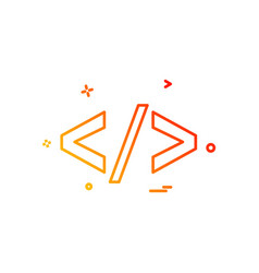 code icon design vector image