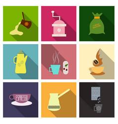 Coffee shop design elements vintage vector