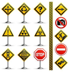 Collection Road Signs vector image