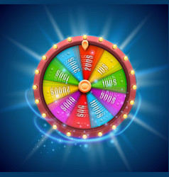 colorful fortune wheel isolated background vector image