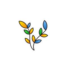 colorful leaf logo vector image