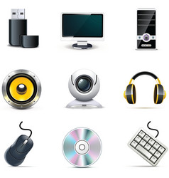 computer parts | bella series vector image