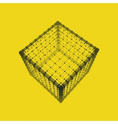 Cube platonic solid lattice geometric element vector