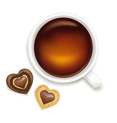 Cup Of Tea With Cookies vector image