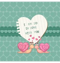 cute love card vector image vector image