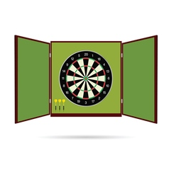 Dartboard icon with arrow vector