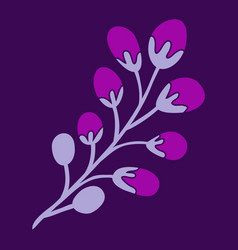 Decoration branches with flowers spring flower vector