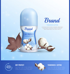 Deodorant bottle realistic poster vector