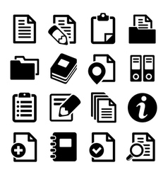 Documents and folders icons set vector image
