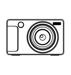 Figure technologic digital camera icon vector