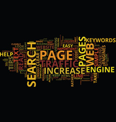 Four tips to increase traffic to your website vector