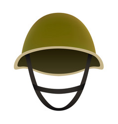 front of camo helmet mockup realistic style vector image