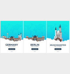 germany time to travel set of travel posters vector image