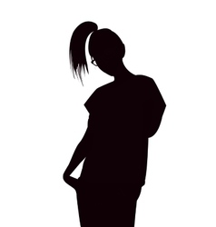 girl lady woman silhouette vector image