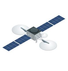 gps satellite flat isometric vector image