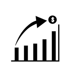 Graph icon in trendy flat style isolated on white vector